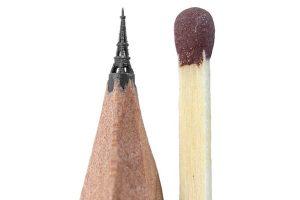 Эйфелева башня из грифеля простого карандаша